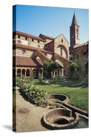 Cloister of the Abbey of St Mary of Staffarda--Stretched Canvas Print