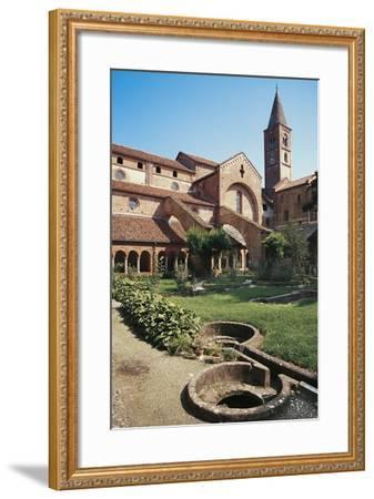 Cloister of the Abbey of St Mary of Staffarda--Framed Photographic Print