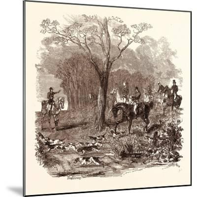 Fox Hunting in November--Mounted Giclee Print