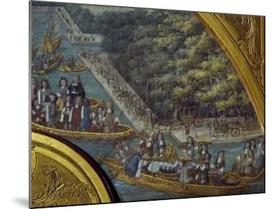 Festivities on Grand Canal of Versailles--Mounted Giclee Print