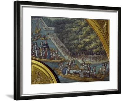 Festivities on Grand Canal of Versailles--Framed Giclee Print