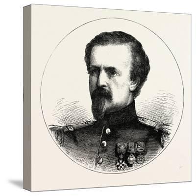 Franco-Prussian War: Pierre Philippe Marie Aristide Denfert-Rochereau--Stretched Canvas Print