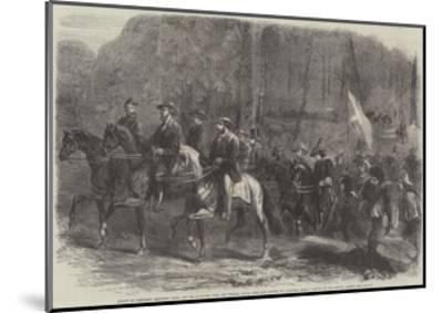 Flight of President Jefferson Davis and His Ministers over the Georgia Ridge--Mounted Giclee Print