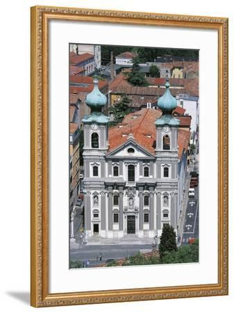 Facade of the Church of St Ignatius of Loyola--Framed Photographic Print
