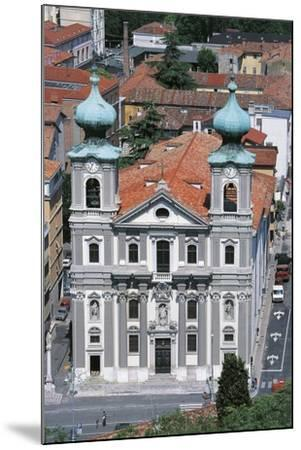 Facade of the Church of St Ignatius of Loyola--Mounted Photographic Print