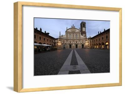 Facade of Vigevano Cathedral (1680)--Framed Photographic Print