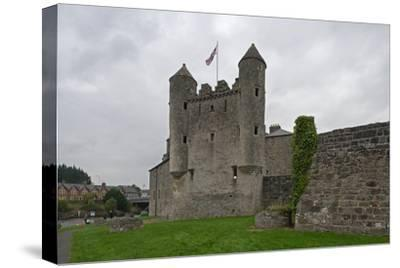 Fifteenth-Century Castle--Stretched Canvas Print