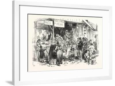 Franco-Prussian War: on the Market of St. Germain. at the Dogs and Cats Butcher. Fresh Rats--Framed Giclee Print