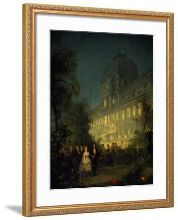 Evening Party at Tuileries During Second Empire--Framed Giclee Print