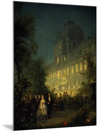 Evening Party at Tuileries During Second Empire--Mounted Giclee Print