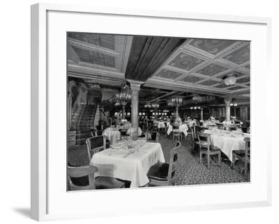 First-Class Restaurant on Board Ss Conte Rosso Transatlantic Liner--Framed Photographic Print