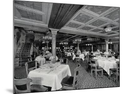 First-Class Restaurant on Board Ss Conte Rosso Transatlantic Liner--Mounted Photographic Print
