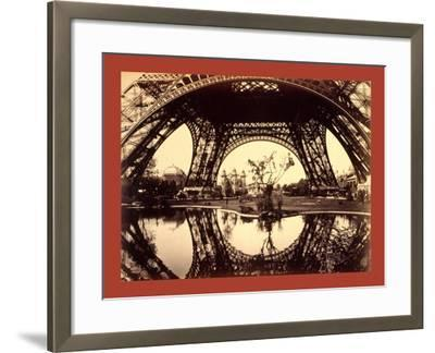 Exhibit Buildings and Grounds Seen Through the Lower Part of the Eiffel Tower--Framed Giclee Print