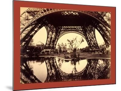 Exhibit Buildings and Grounds Seen Through the Lower Part of the Eiffel Tower--Mounted Giclee Print