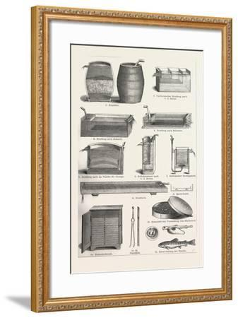 Fish Production--Framed Giclee Print