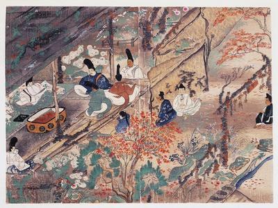 Heian Statesman and Poet Sugawara Michizane (845-903)--Framed Giclee Print