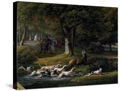 Hallali (Huntsman's Bugle Call)--Stretched Canvas Print