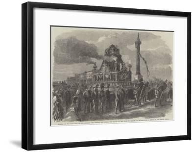 Funeral of the Late King of the Belgians--Framed Giclee Print