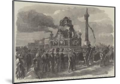Funeral of the Late King of the Belgians--Mounted Giclee Print
