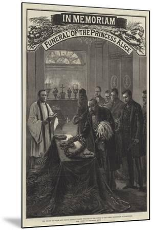 Funeral of the Princess Alice--Mounted Giclee Print
