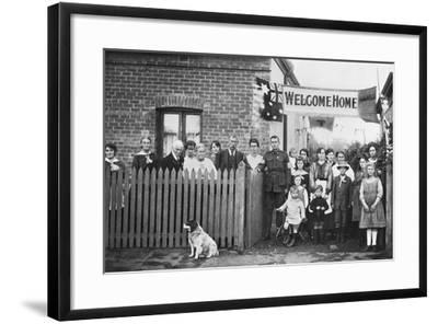Group Portrait of 540 Sapper Arthur Findon Dunbar Mm--Framed Giclee Print
