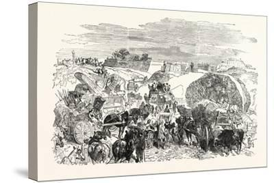 Franco-Prussian War: Residents of the Zollinie Flee--Stretched Canvas Print