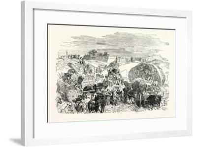 Franco-Prussian War: Residents of the Zollinie Flee--Framed Giclee Print