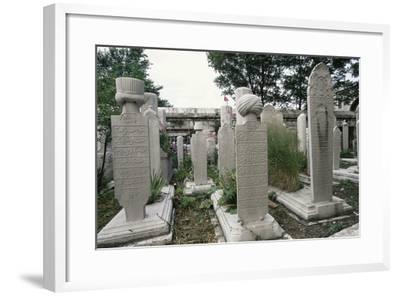 Graves in Cemetery of Suleymaniye Mosque (Suleymaniye Camii)--Framed Photographic Print