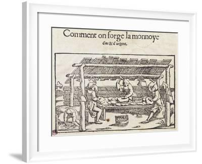 How Gold and Silver Coins are Made--Framed Giclee Print
