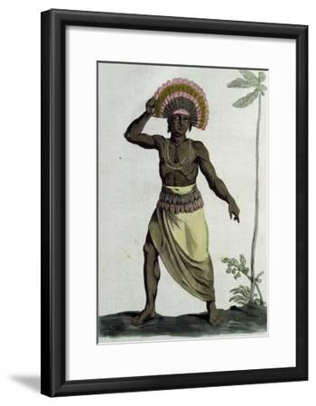 Inhabitant of Friendly Islands (Tonga Islands)--Framed Giclee Print