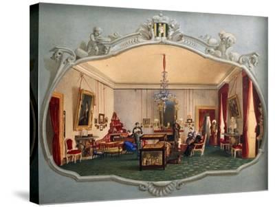 Interior of Trivulzio House--Stretched Canvas Print