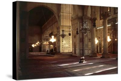 Interior of Umayyad Mosque or Great Mosque of Damascus--Stretched Canvas Print