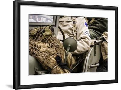 Historical Reenactment: Willys Mb U.S. Army Jeep Near Gothic Line--Framed Photographic Print
