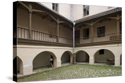 Inner Courtyard of Bishop's Castle (Founded in 13th Century) in Edole--Stretched Canvas Print