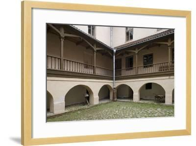 Inner Courtyard of Bishop's Castle (Founded in 13th Century) in Edole--Framed Photographic Print