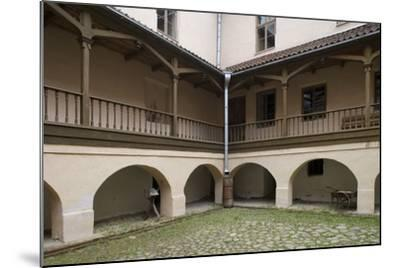 Inner Courtyard of Bishop's Castle (Founded in 13th Century) in Edole--Mounted Photographic Print