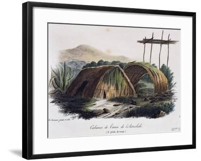 Huts in Astrolabe Cove--Framed Giclee Print