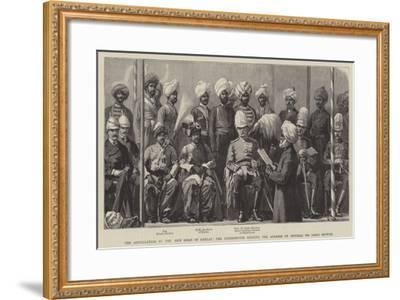 Installation of the New Khan of Khelat--Framed Giclee Print