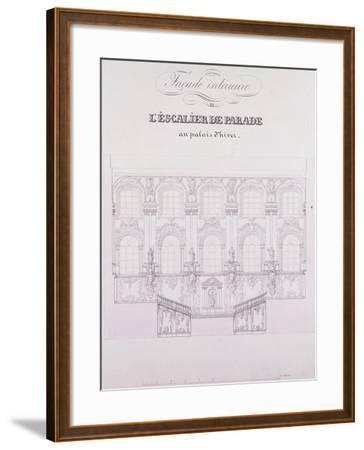 Interior Frontage of the Parade Stairs at the Winter Palace; Facade Interieure De L'Escalier De Par--Framed Giclee Print