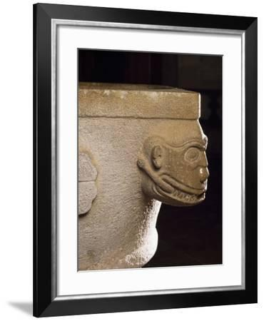 Holy Water Font Resting on Upside Down Roman Capital--Framed Giclee Print
