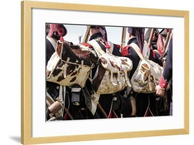 Historical Reenactment: Soldiers of the Tirailleurs Du Po Battalion--Framed Photographic Print