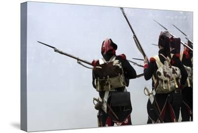 Historical Reenactment: Soldiers of the Tirailleurs Du Po Battalion--Stretched Canvas Print