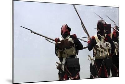 Historical Reenactment: Soldiers of the Tirailleurs Du Po Battalion--Mounted Photographic Print
