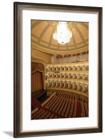 Horseshoe Shaped Auditorium in Coccia Theatre (Opened in 1888)--Framed Photographic Print