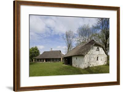 Houses with Thatched Roofs--Framed Photographic Print