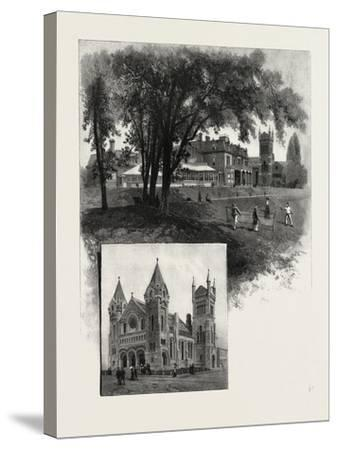 Lieutenant-Governor's Residence (Top); St. Andrew's Church (Bottom)--Stretched Canvas Print