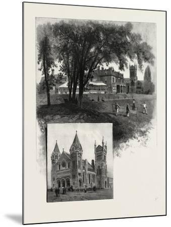 Lieutenant-Governor's Residence (Top); St. Andrew's Church (Bottom)--Mounted Giclee Print