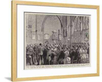 Lord Wolseley Unveiling the Memorial Windows in Rochester Cathedral to General Gordon and the Offic--Framed Giclee Print