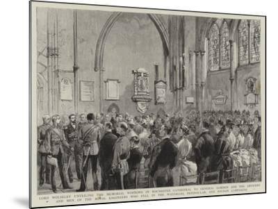 Lord Wolseley Unveiling the Memorial Windows in Rochester Cathedral to General Gordon and the Offic--Mounted Giclee Print