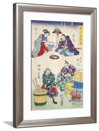 Lunch and the Cooking of Food--Framed Giclee Print